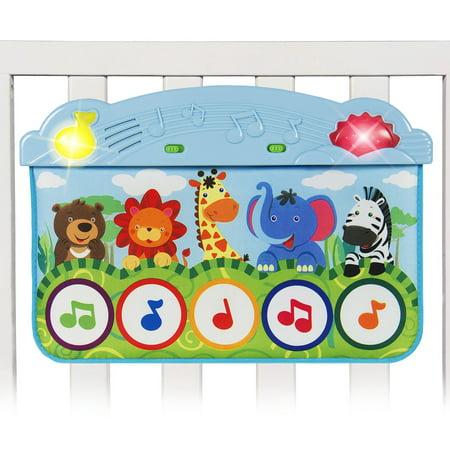 Baby Kick And Touch Musical Piano Crib Play Mat Cute Animal Design