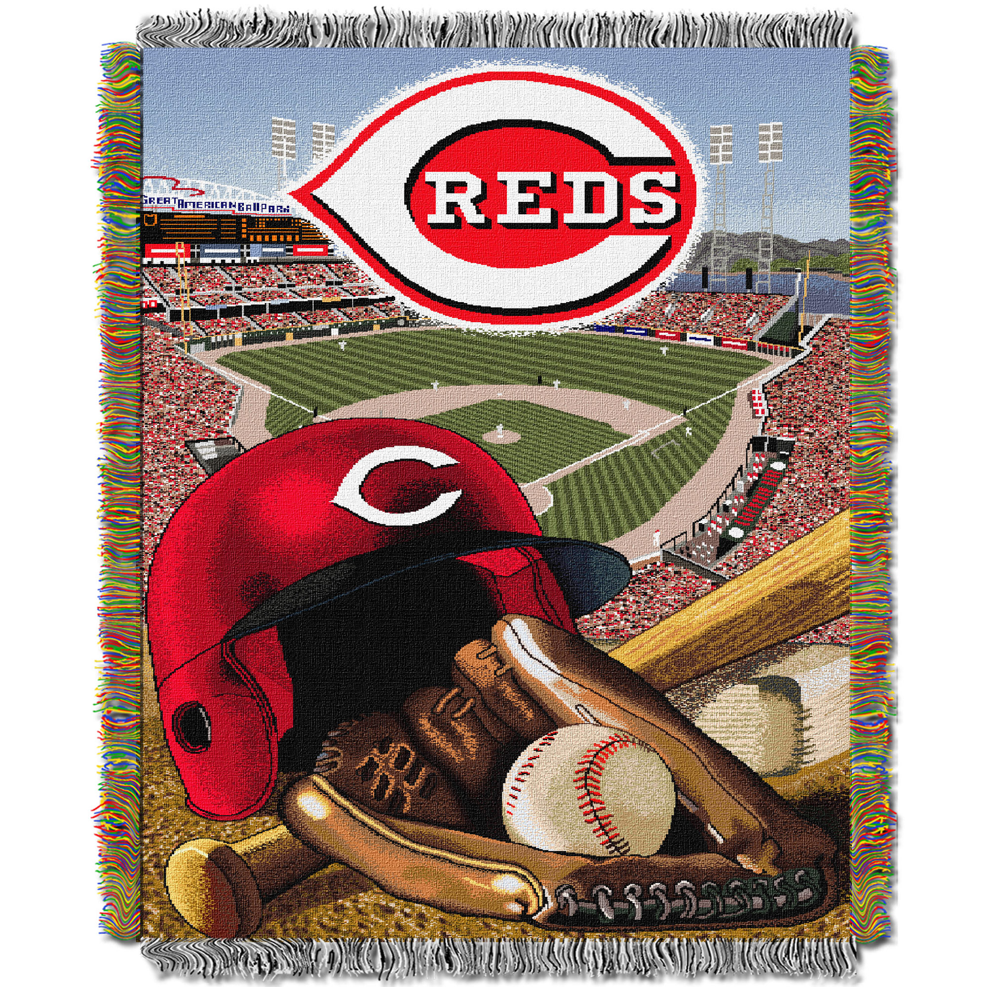 Cincinnati Reds The Northwest Company 48'' x 60'' Home Advantage Woven Throw - No Size