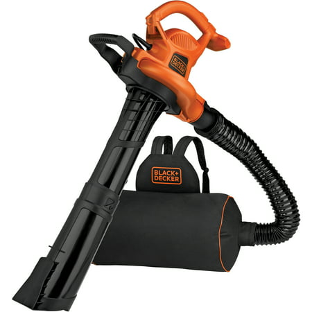 - BLACK+DECKER BEBL7000 3-N-1 VACPACK 12 Amp Leaf Blower, Vacuum, and Mulcher