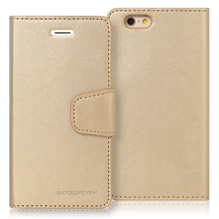 Iphone 6S Plus Case   Iphone 6 Plus Case  Drop Protection  Goospery  Sonata Diary  Wallet Type  Synthetic Leather Case  Id Card   Cash Slot  W  Stand Cover For Apple Iphone 6S Plus   6 Plus  5 5