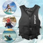 Mymisisa Swimming Boating Sailing Driving Vest Life Jacket for Adult Kid (Black L)