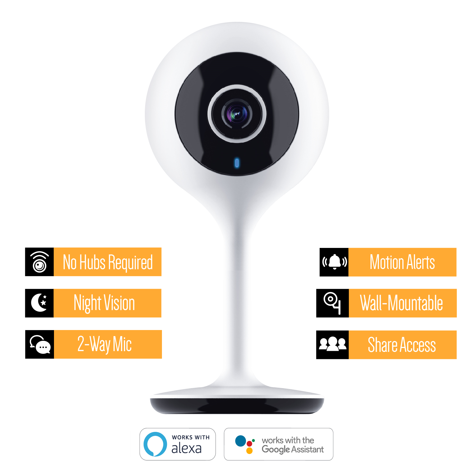 Merkury Innovations Smart WiFi 720P Camera - Walmart com