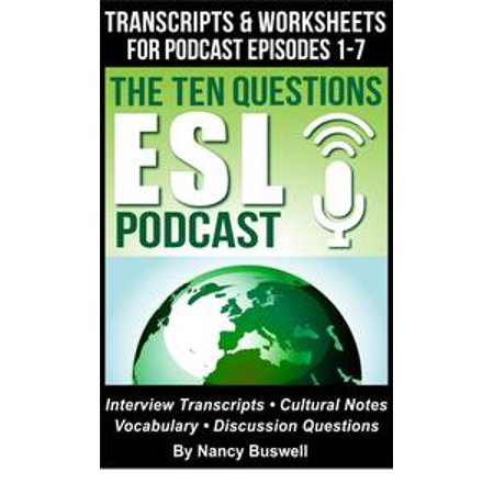 Worksheets Halloween Esl (The Ten Questions ESL Podcast: Transcripts and Worksheets for Episodes 1-7 -)
