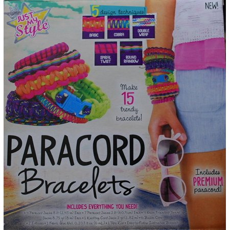 Just My Style Paracord Bracelet Make It Kit 15 Bracelets Take Pride In Decorating And Finishing Your Own Craft And Accessories By Just My Style Walmart Com Walmart Com