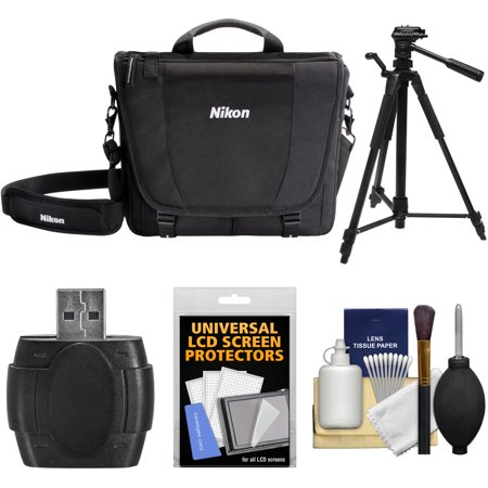 Nikon 17007 DSLR Camera Courier Bag with Tripod + Kit for D3200, D3300, D5300, D5500, D7100, D7200, D610, D750, D810