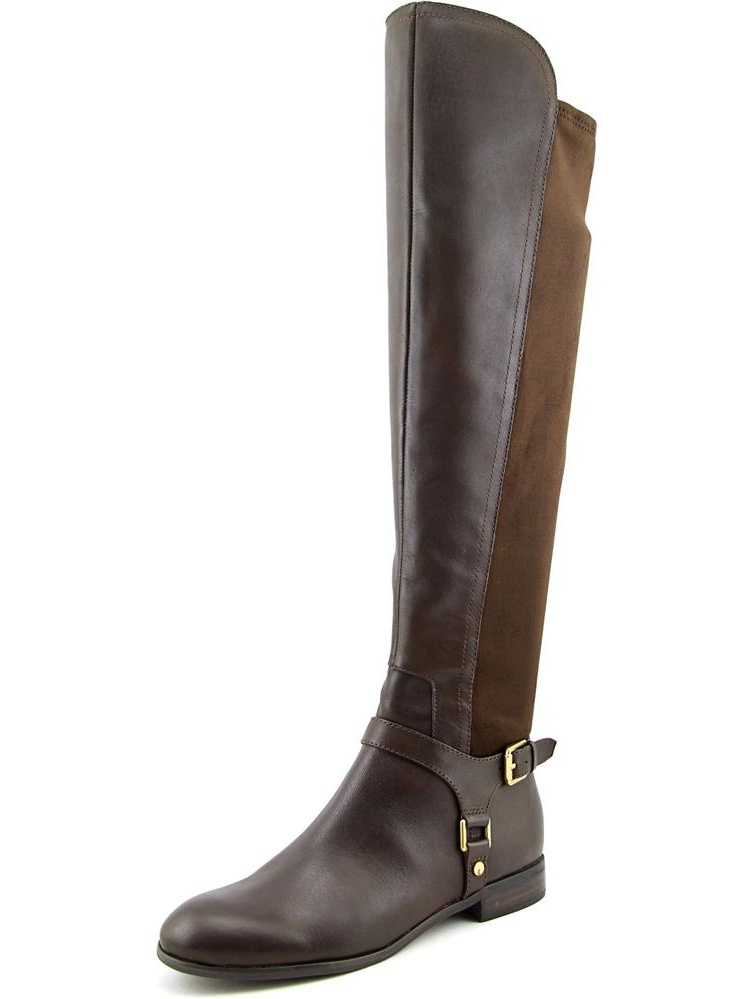 Franco Sarto Mast Women Round Toe Leather Brown Over the Knee Boot by Franco Sarto