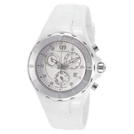 Technomarine Tm-110031 Women's Cruise Diamond Chrono White Silicone And Dial Watch