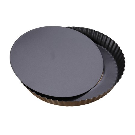 9 inch Non-stick Pizza Pan Quiche Pan With Removable Bottom Removable Loose Bottom Quiche Pan Tart Pie Pan (10 Tart Pan With Removable Bottom)