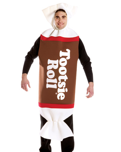 Adult Tootsie Roll Candy Halloween Costume One Size Fits Most #4000