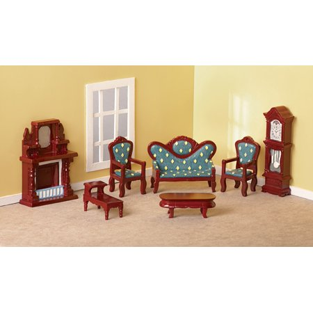 Collectible Mini Living Room Furniture Set 7 Pc