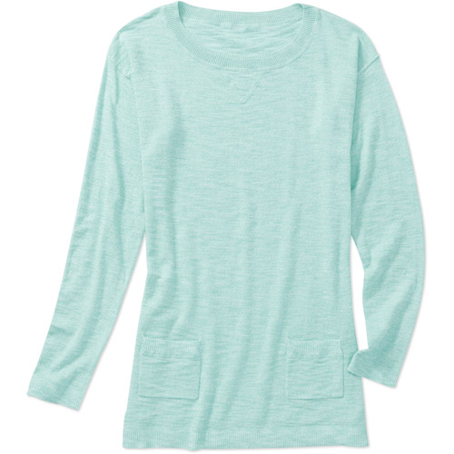 Faded Glory Women's Wide Neck Tunic Sweater