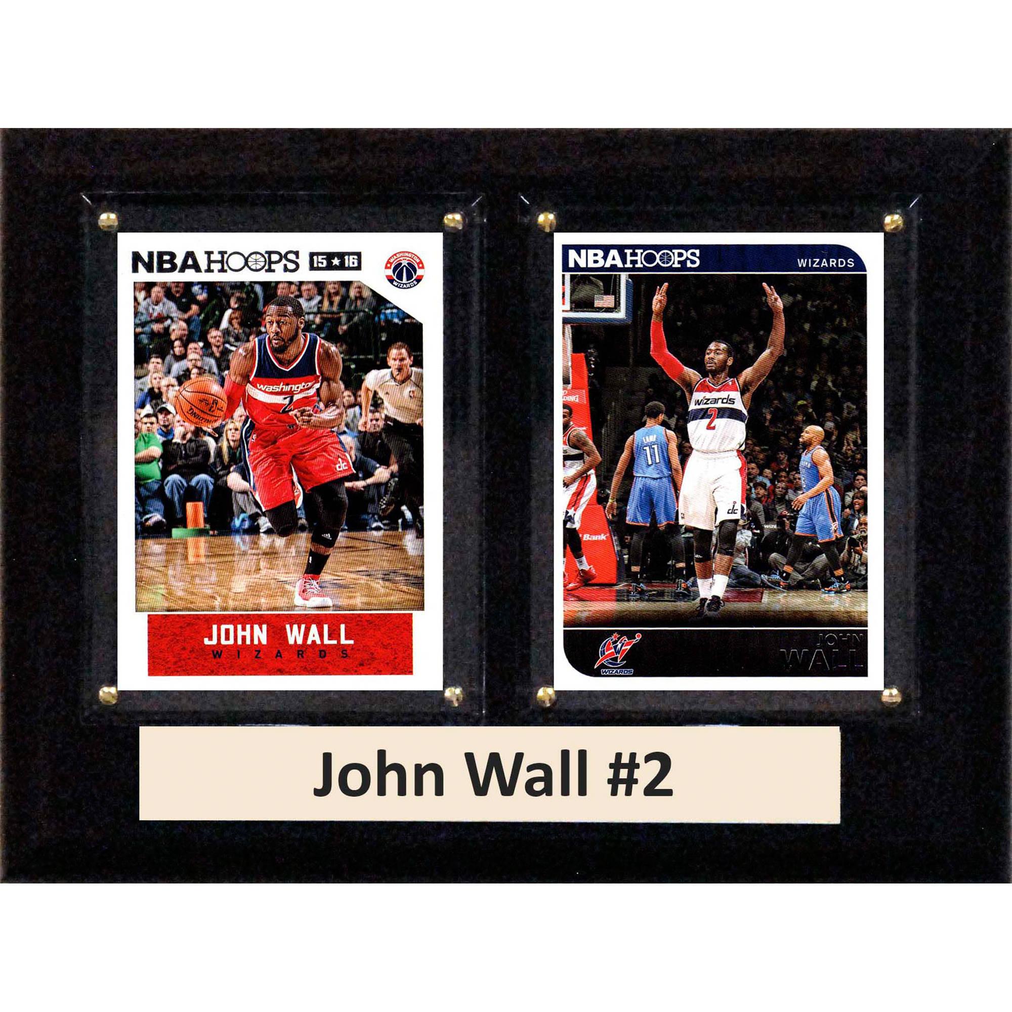 C&I Collectables NBA 6x8 John Wall Washington Wizards 2-Card Plaque