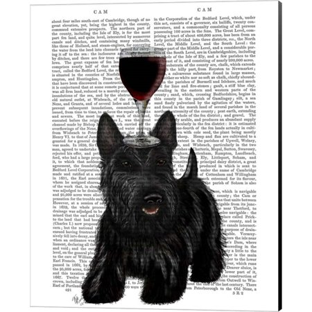 Great Art Now Dog Au Vin Scottish Terrier by Fab Funky Canvas Wall Art 16W x 20H ()