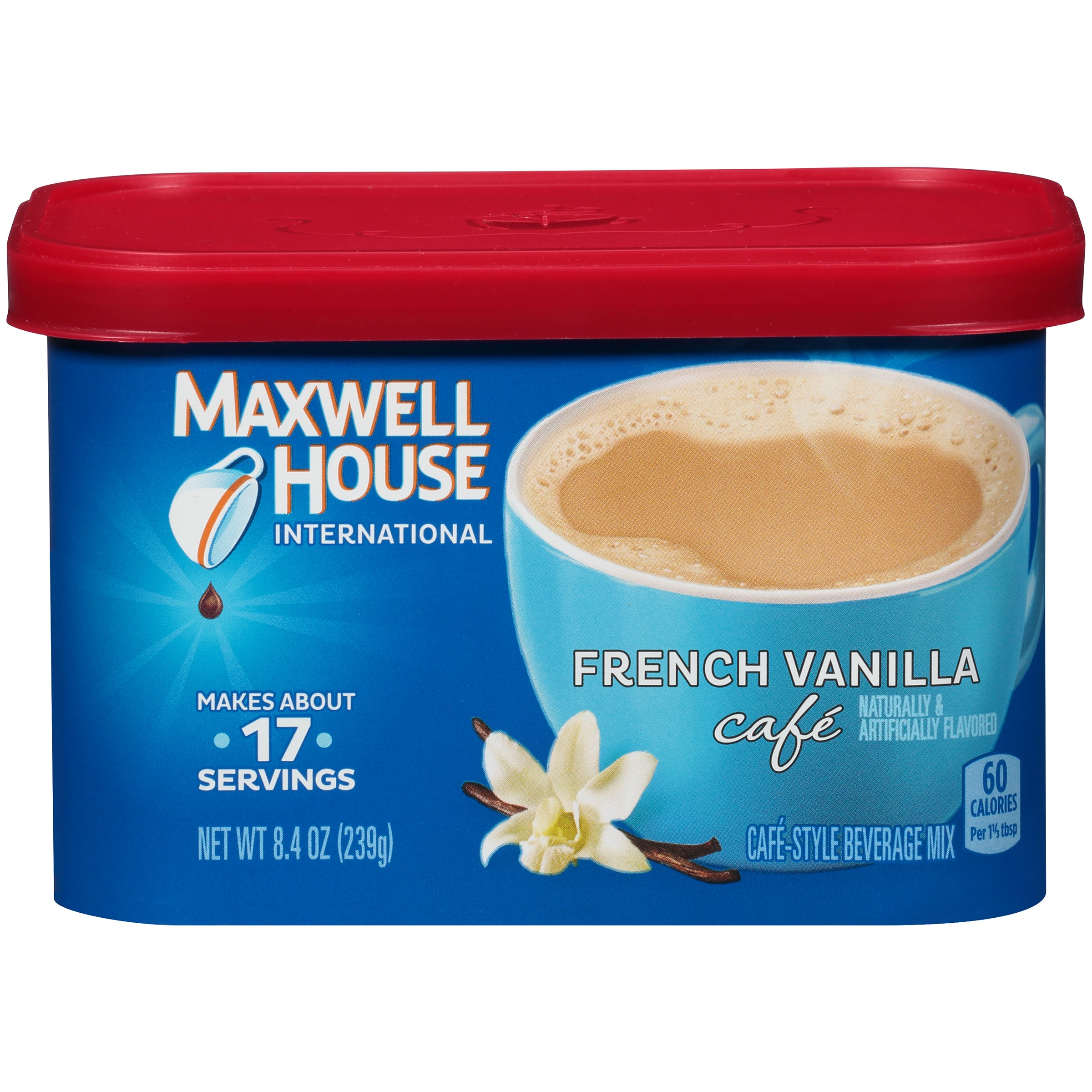 Maxwell House International French Vanilla Café-Style Beverage Mix 8.4 oz. Tub