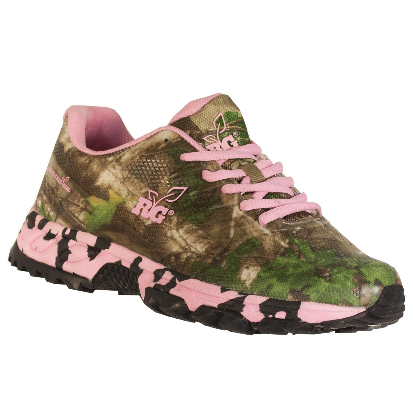 realtree outfitters s mamba hiking shoes pink green
