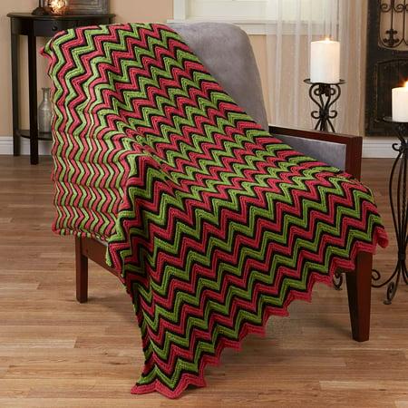 Herrschners® Nouveau Poppy Ripple Crochet Afghan Kit