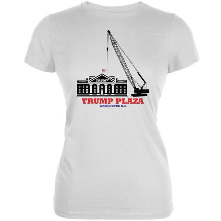 Election 2020 Trump Plaza Washington DC White Juniors Soft T-Shirt -