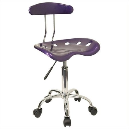 Scranton & Co Office Chair in Violet and Chrome - image 3 of 4