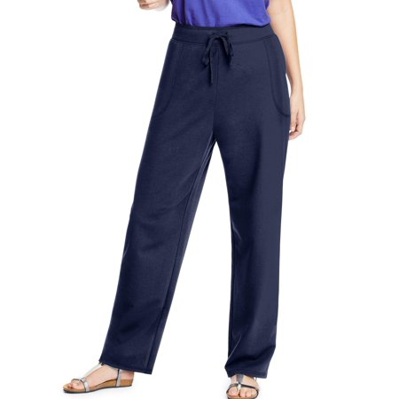 Just My Size Women's Plus Size French Terry Pocket Pant (Navy Stretch Pants)