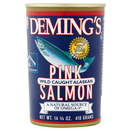 (2 Pack) Deming's Wild Caught Alaskan Pink Salmon, 14.75