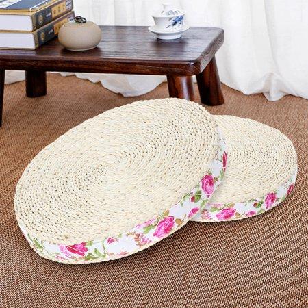 Handmade Round Straw Weave Pillow Floor Yoga Zen Chair ...