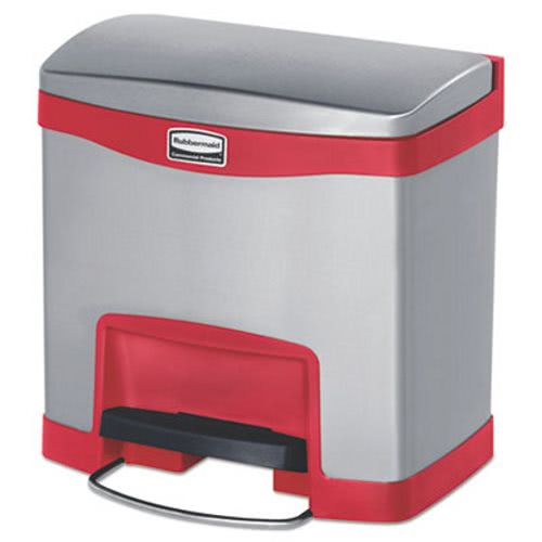Rubbermaid 1901983 Slim Jim 4 Gallon Step-On Trash Can, Red (RCP1901983)