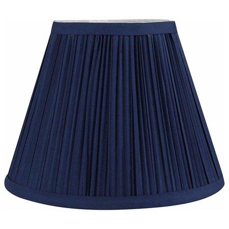 Urbanest Mushroom Pleated Softback Lamp Shade, Faux Silk, 5-inch by 9-inch by 7-inch, Navy Blue, -