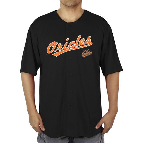 MLB Baltimore Orioles Men's Poly Button Down Jersey