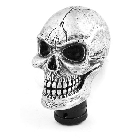 Pro Stick Shifter - Unique Bargains Evil Skull Manual Gear Shift Knob Universal Silver Tone Stick Lever Shifter
