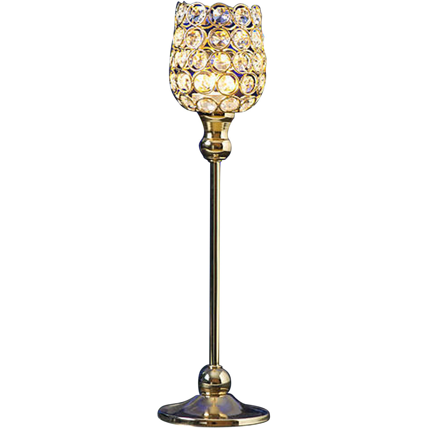 Gold Crystal Candle Holder