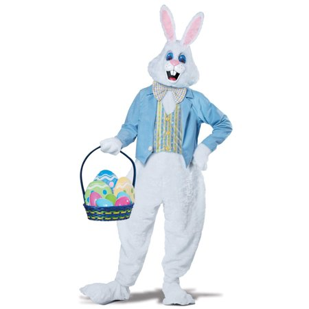 Halloween Costume Ideas Suit (Deluxe Easter Bunny Men's Adult Halloween Costume,)