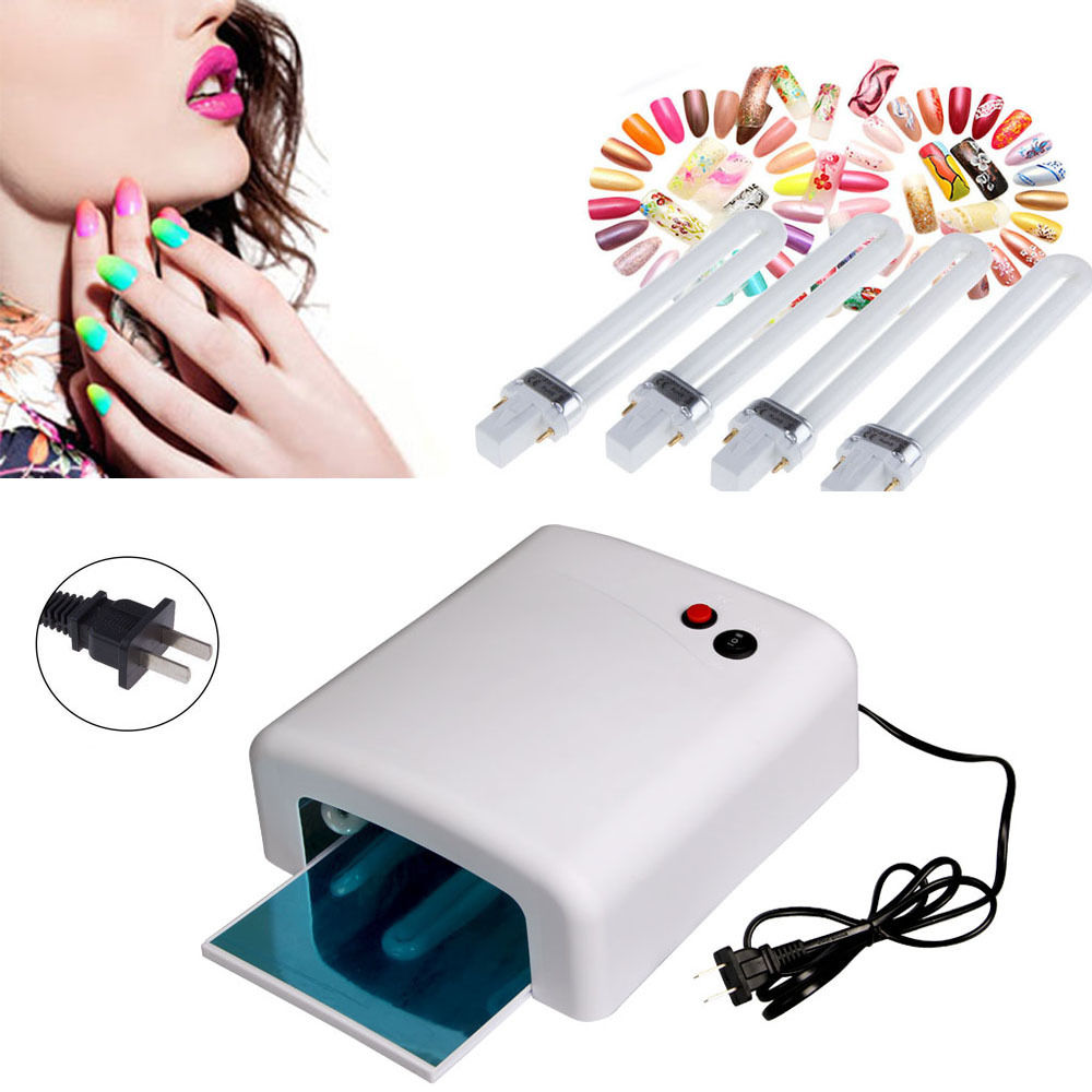 36W Nail Polish Dryer Lamp Pro Gel Acrylic Curing Light Spa Kit 110V US Stock