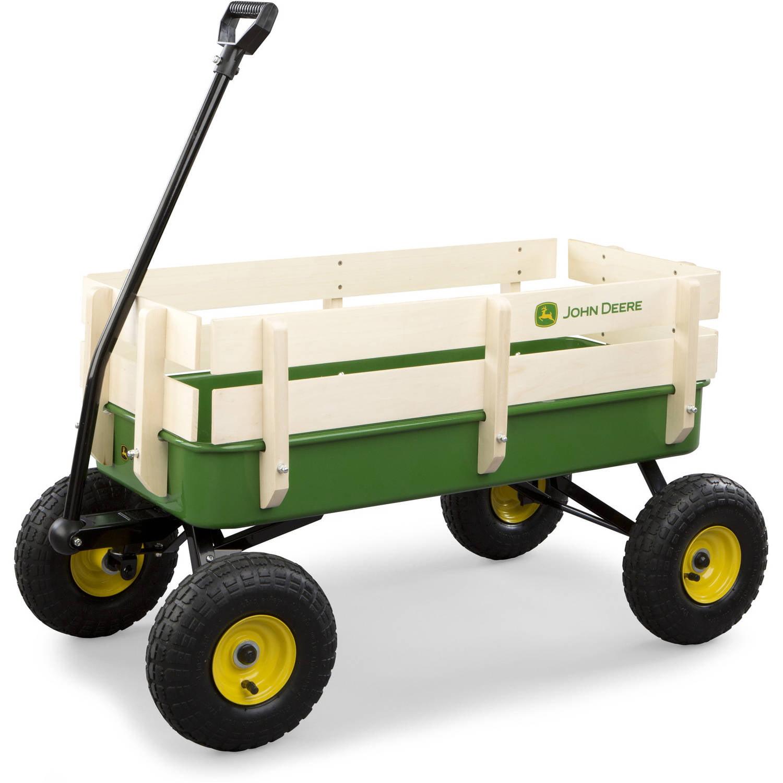 John Deere Steel Stake Wagon, Green