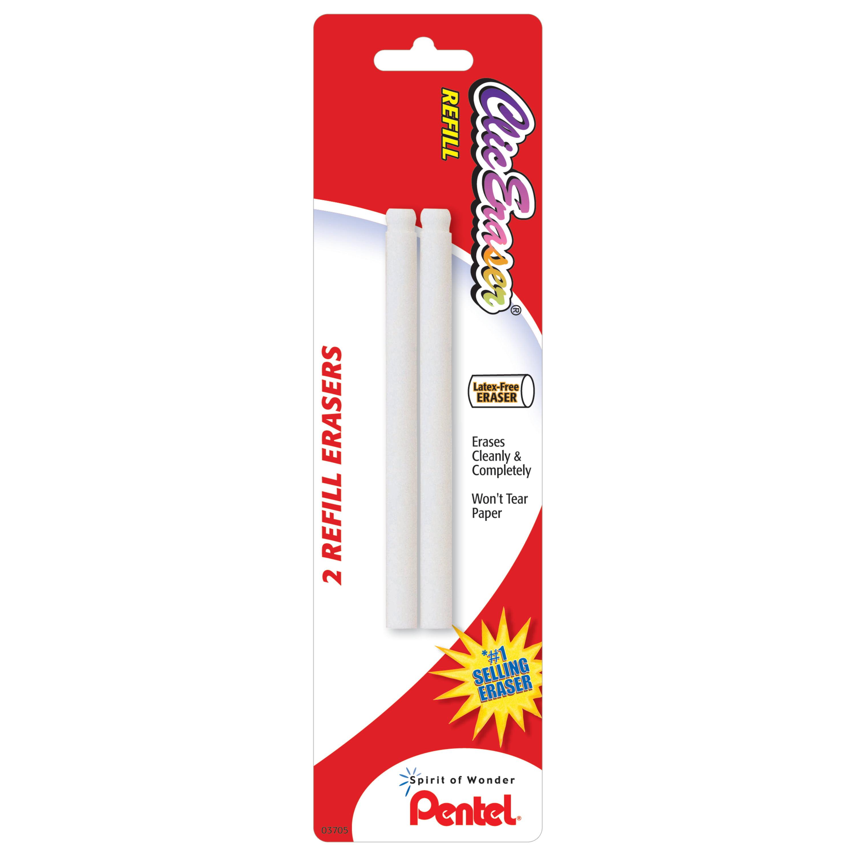 Pentel Clic Eraser Refill, 2/Pkg.