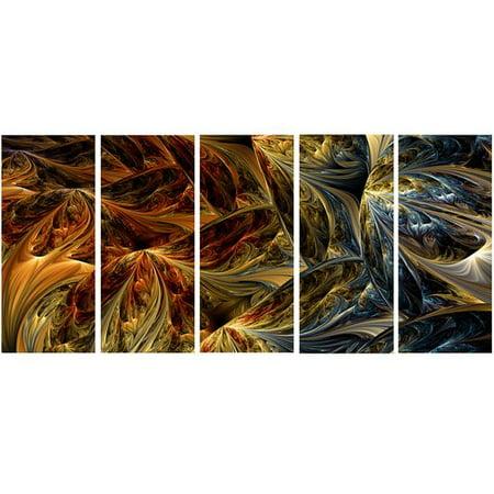Molten Metal Protection (Design Art Metal 'Molten Gold Abstract' 5 Piece Graphic Art Set )