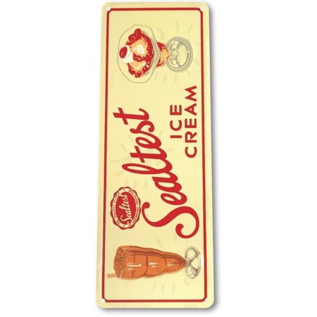 TIN SIGN B246 Sealtest Ice Cream Tin Metal Sign Retro Metal Ice Cream Decor, By Tinworld