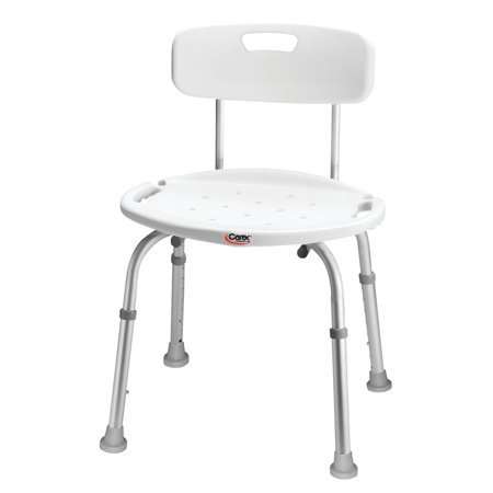 - Carex Adjustable Bath & Shower Chair with Back