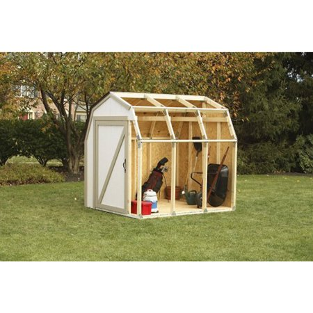 2x4 basics shed kit with barn style roof for Small shed kits