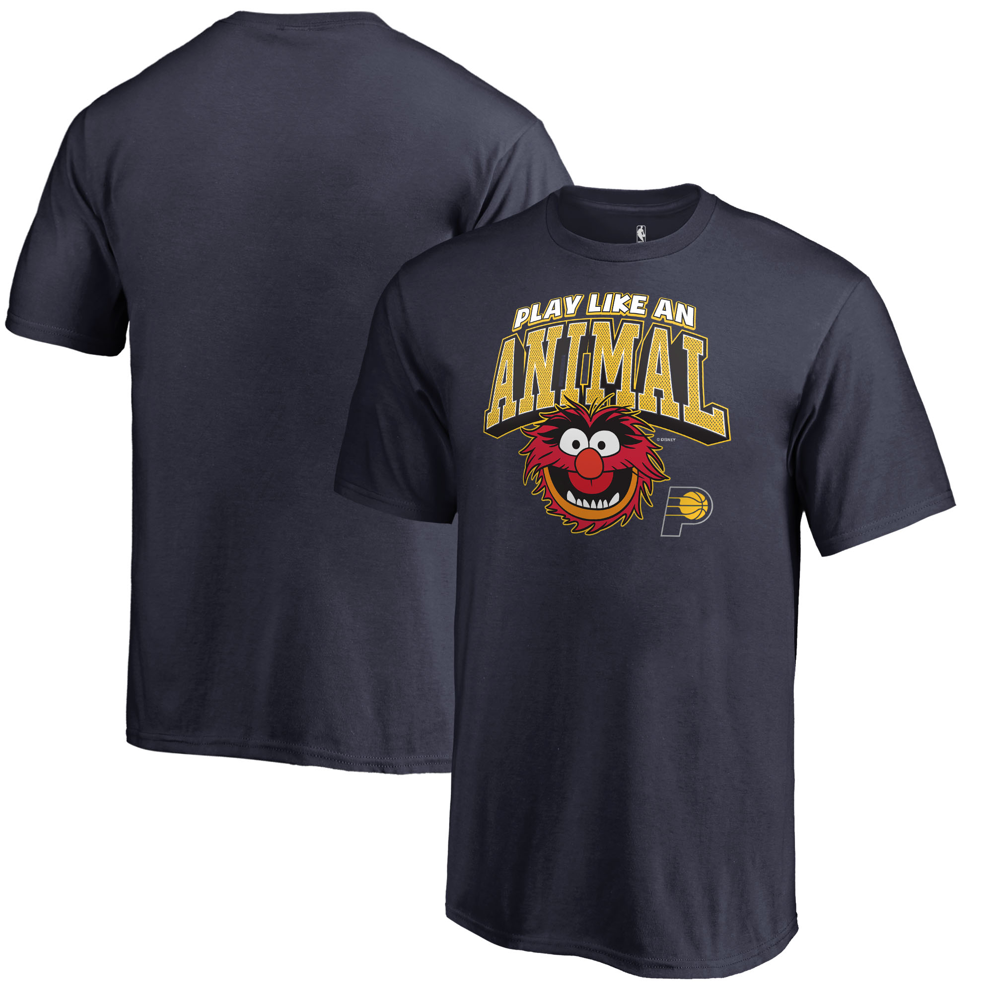 Indiana Pacers Fanatics Branded Youth Disney NBA Muppets Play Like an Animal T-Shirt - Navy