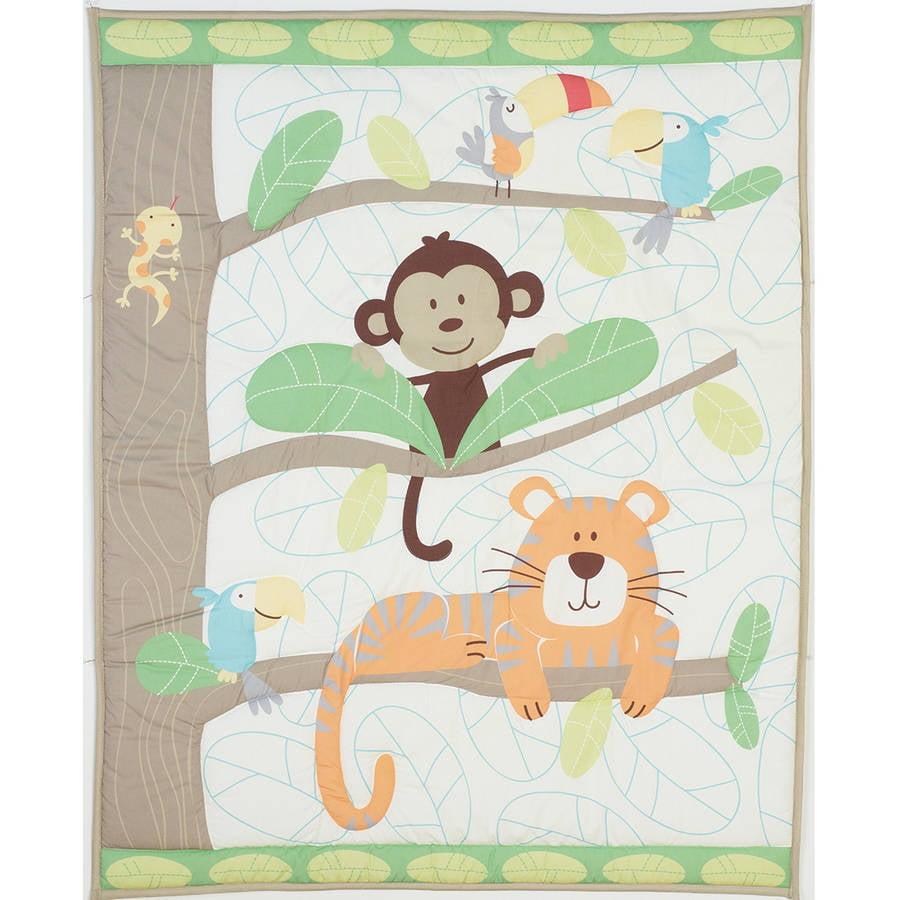 Garanimals Tropical Tree Top 3 Piece Crib Bedding Value Bundle