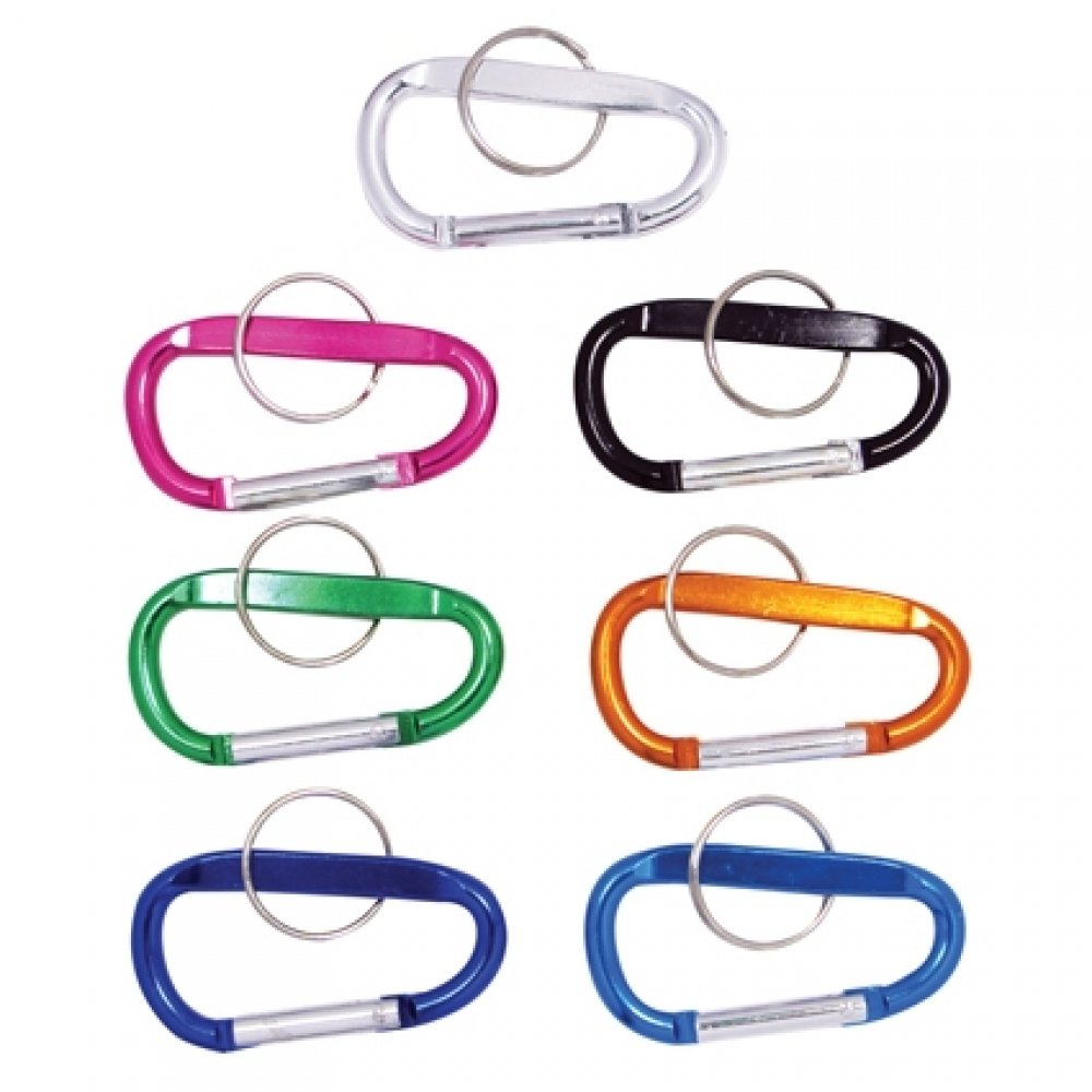 "2"" Universal Home Carabiner Key Chain w/ Durable Nylon Pull (Non Load Bearing)"