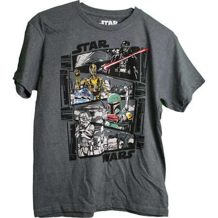 Star Wars Classic C3PO Darth Vader R2D2 Stormtrooper Boy's T-Shirt - Darth Vader Bodysuit