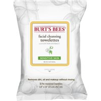 30 Count, Burt's Bees Facial Cleansing Towelettes, Sensitive Skin