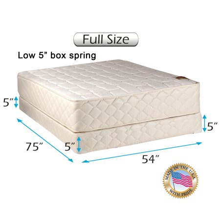 Usa Full Box (Dream Solutions USA Grandeur Deluxe Full Size 2-Sided Mattress and Low 5