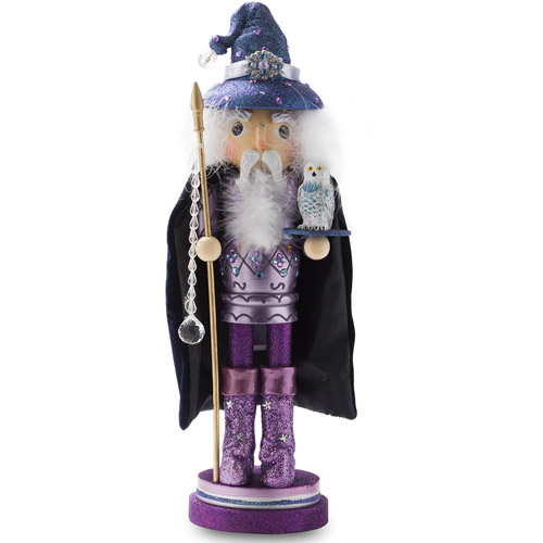 "Kurt Adler 18"" Hollywood Wooden Wizard Nutcracker"