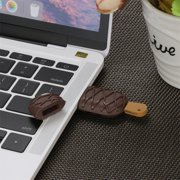 8G USB 2.0 Flash Drive Chocolate Ice Cream Shape Pen Drive Flash U Disk