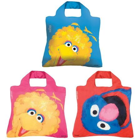 Big Bird And Grover (Envirosax Sesame Street Pouch, Set of 3 Reusable Shopping Bags, Big Bird &)