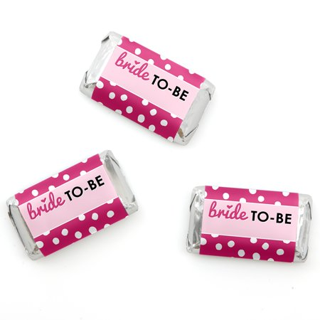 Bride-To-Be - Mini Candy Bar Wrappers Bridal Shower & Classy Bachelorette Party Favors - 20 Count