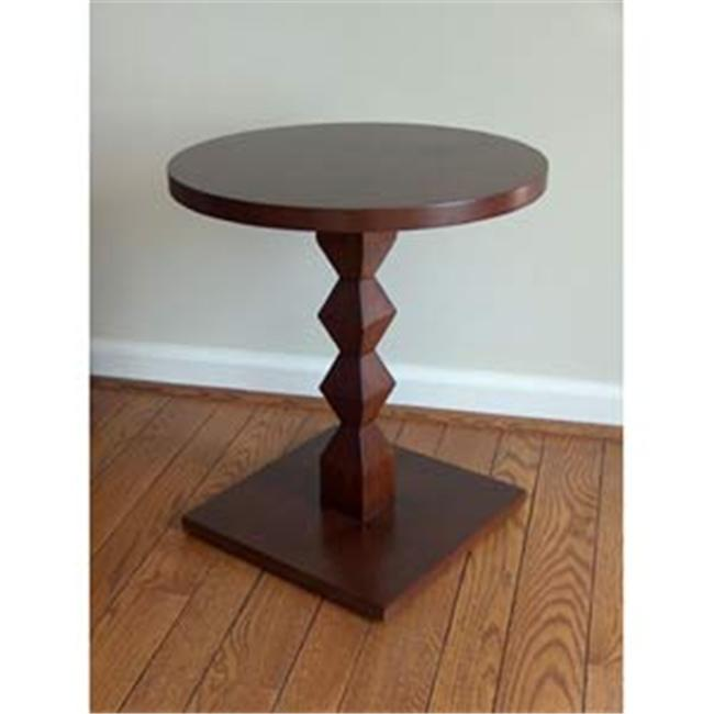 TLS by Design 3B-1023-GH Tikal Zig-Zag Transitional Ash Pedestal Without Tray - Deep Mahogany