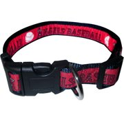Pets First MLB Los Angeles Angels Dogs and Cats Collar - Heavy-Duty, Durable & Adjustable - Large